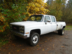 1989 GMC SLX 3500 1 ton 4x4 Crewcab dually pickup