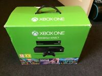 Xbox One Console, 500GB, Plus Kinect.