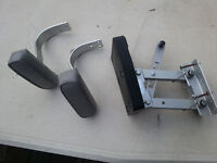 Two marine seat arm rests and an aux. motor kicker bracket for s