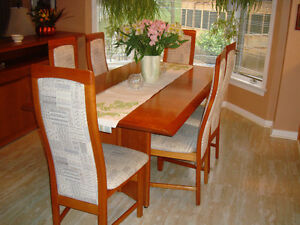 Solid Cherry Table, 6 chairs Cambridge Kitchener Area image 1