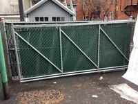 Cloture et Porte coulissante aluminium 25 pieds (2 en 1)