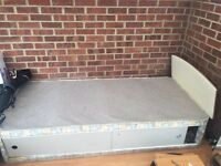 Free single bed base