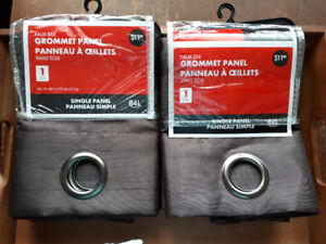 Brand new - 2 Curtains and Curtain  Rod Still in Packages