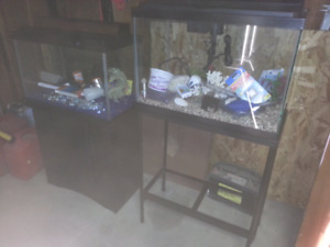 2 Fish Aquariums with lots of extras