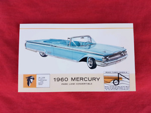 1960 MERCURY PARK LANE CONVERT NOS Dealer Promo Postcard