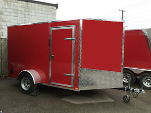 Canadian Made 6' x 10' V-Nose Cargo Trailers • 3 Year Warranty