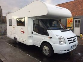 Ford transit 5 berth roller team motorhome 09 Reg sat nav fsh finance available