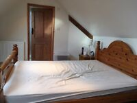 Very solid pine double bed