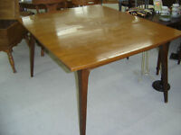 new arrival--antique dinning table, top could use some tlc
