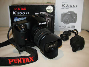 Pentax K200D 10.2MP Digital SLR Camera with Shake Reduction 18-5
