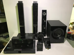 AS-IS LG RECEIVER AND SPEAKERS TO FIX OR FOR PARTS - FJN