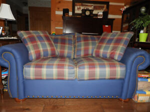 Matching Love Seats with Ottoman