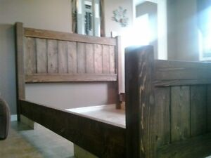 King, Queen and double bed frames $375 to $400 and end table $70