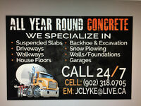 All year round concrete
