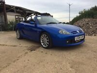 MG TF 135 with below average miles and 10 months MOT