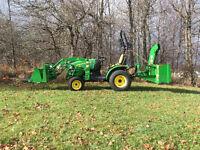 small tractor services, grading, bush hogging, spreading