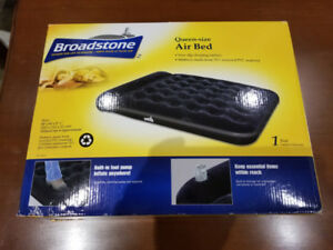 Air Bed Queen Size with Built-in Foot Pump; Broad Stone
