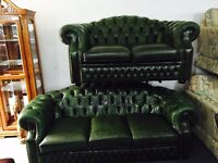 Chesterfield 3 and 2 sofas