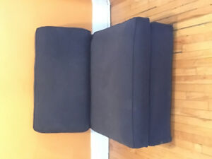 IKEA KIVIK couch section, navy-blue