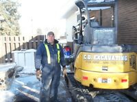 Man With Mini Excavator For Hire