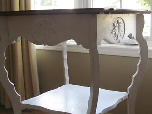 REFINISHED ANTIQUE TABLE FOR FRONT WINDOW DISPLAY OR ANY WHERE