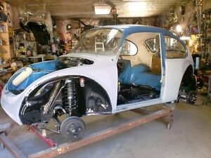 73 Super Beetle complete project 100% restored rolling chassis