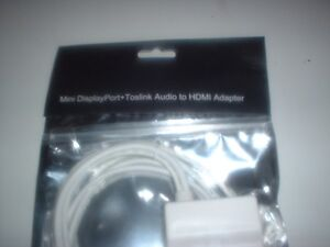 Mini Displayport + Toslink Audio to HDMI Adapter