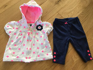 Carter's hoodie and pants for baby girl