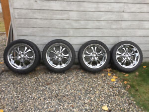 "20"" Boss rims and tires"