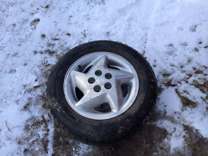 4 alloy rims with tires