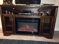 Fireplace Entertainment Wall Unit Stand