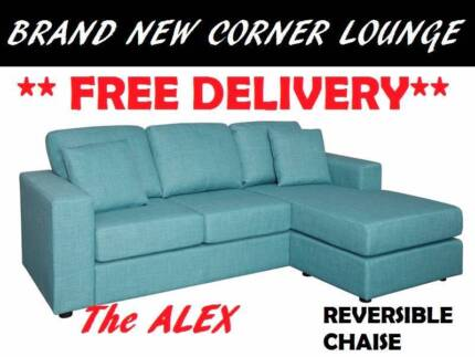 BRAND NEW Corner Lounge Sofa + Chaise FREE DELIVERY + WARRANTY