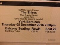 Two tickets to The Shires - York Barbican 8/12/2016