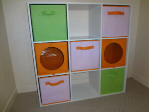 "9-Cube Storage/Shelving Unit, with ""Baskets"""