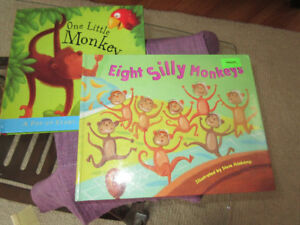 Two Monkey Books for Toddlers - Eight Silly MOnkeys..