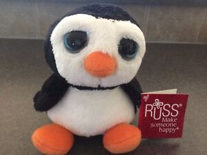 """New w/Tags- Penguin Stuffie """"Snowstorm"""" by Russ"""