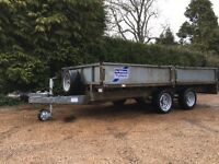 IFOR WILLIAMS LM125 DROPSIDES TRAILER * 12ft X 5.5ft * PERFECT CONDITION! Ready for use...