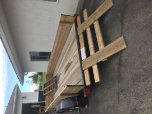 16FT Double Axle flat deck trailer