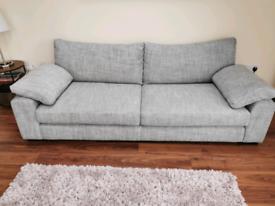 Sofology Coco Range 3 Seater Sofa Chanel Grey Foam - Like New