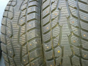 four winterquest studded 195/65r15 like new TRURO