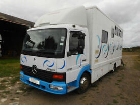 Mercedes 815 Atego horsebox, 2005 (54), low miles, barn stored, Swindon SN26