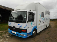 Mercedes 815 Atego horsebox, 2005 (54), low miles, barn stored, Swindon SN26