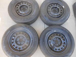 P205/70R15 Cooper CS5 Touring Tires on GM Steel Rims