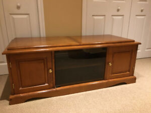 Solid Wood TV Stand for Sale, in Great Shape!