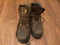 Size 8 uk brown Caterpillar work boots
