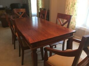 Solid Mango Wood Dining Table & Chairs