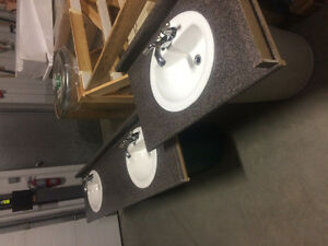 Porcelain sinks with Taps -$40 each or 3 for $100 Edmonton Edmonton Area image 1