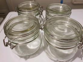 4 glass jars