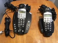Twin set of Bt cordless phones