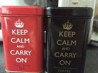 Tea and coffee tins